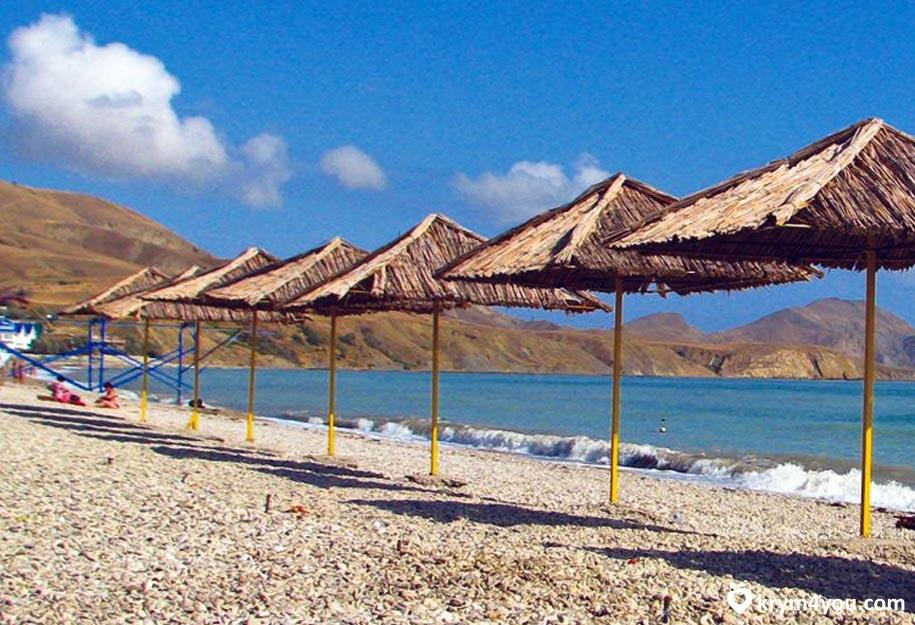 Пляжи Коктебеля. Крым