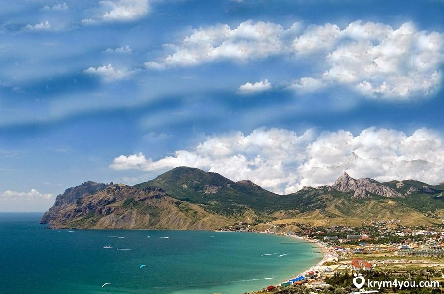 Крым фото История Коктебеля море