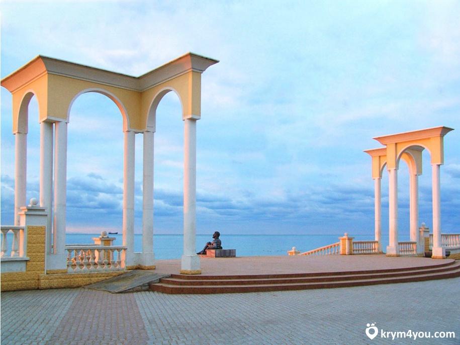 Набережная имени Горького в Евпатории Крым фото