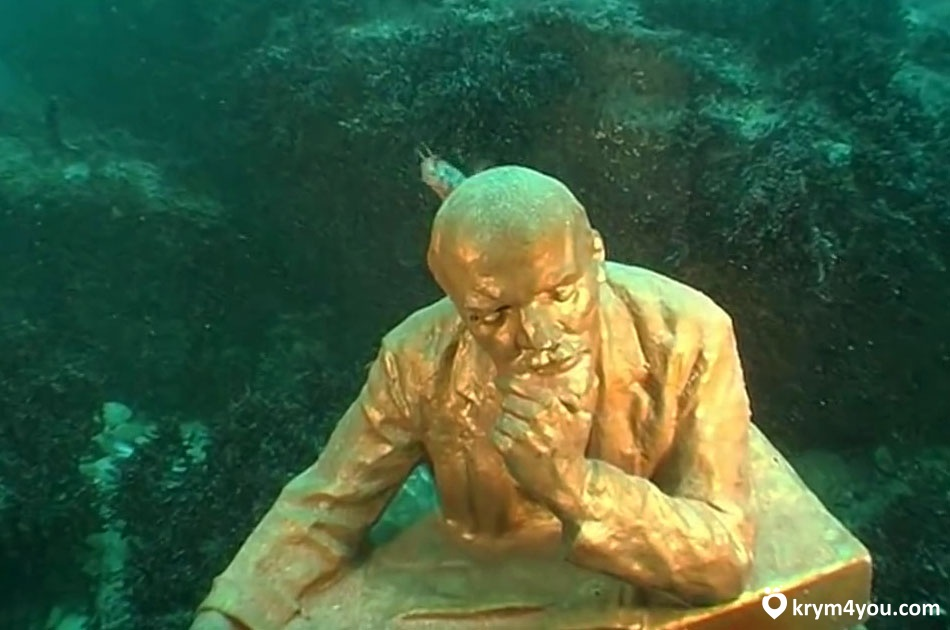 Подводный музей Тарханкута Ленин
