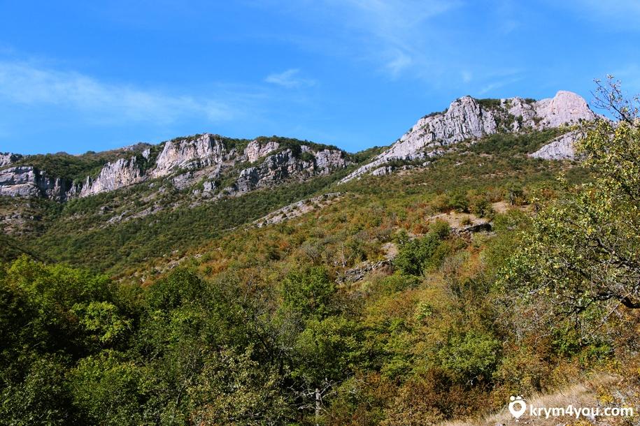 Водопад Гейзер Крым, горы