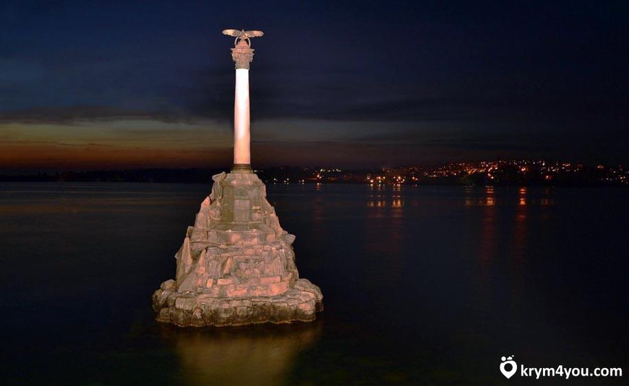 Крым Памятник Затопленным кораблям