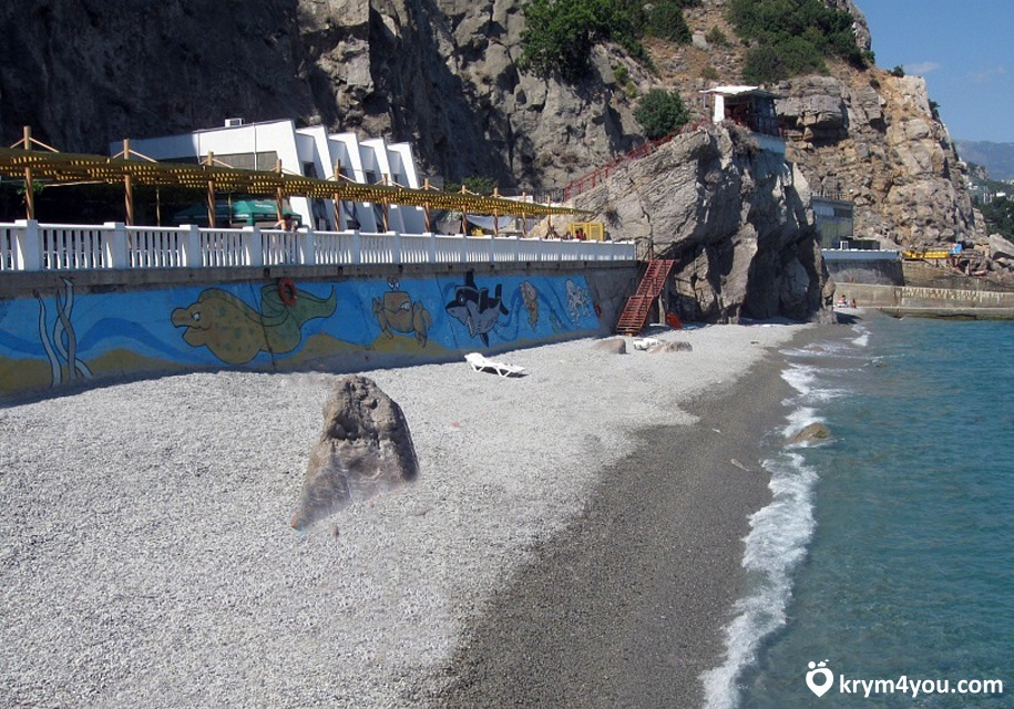 Крым Пляж в Гаспре