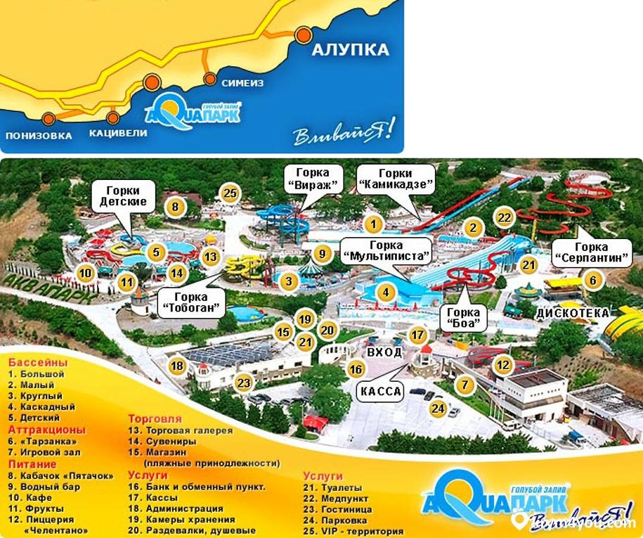 Аквапарка Голубого Залива Крым фото 2