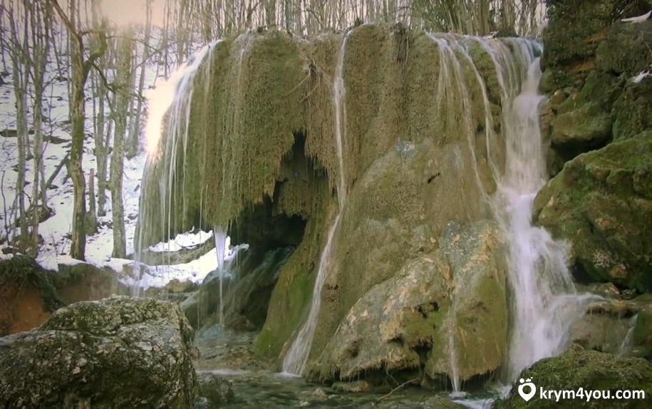 Водопад Серебряные струи Крым фото