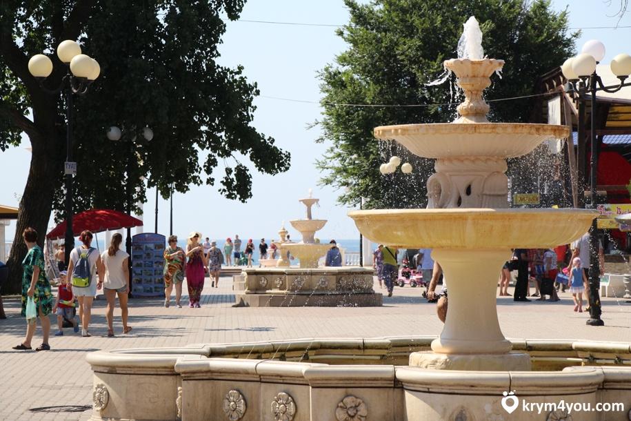 Набережная имени Горького в Евпатории Крым фото 1