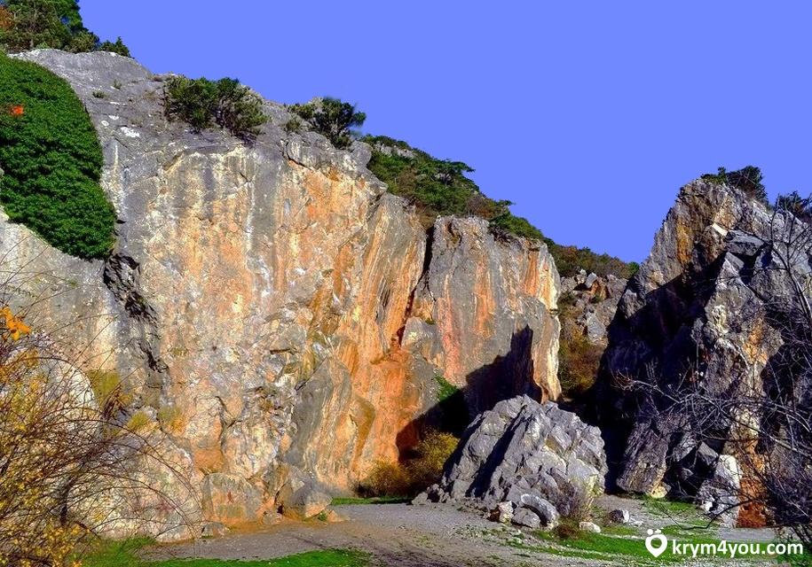 Крым фото Никитская расщелина  выды