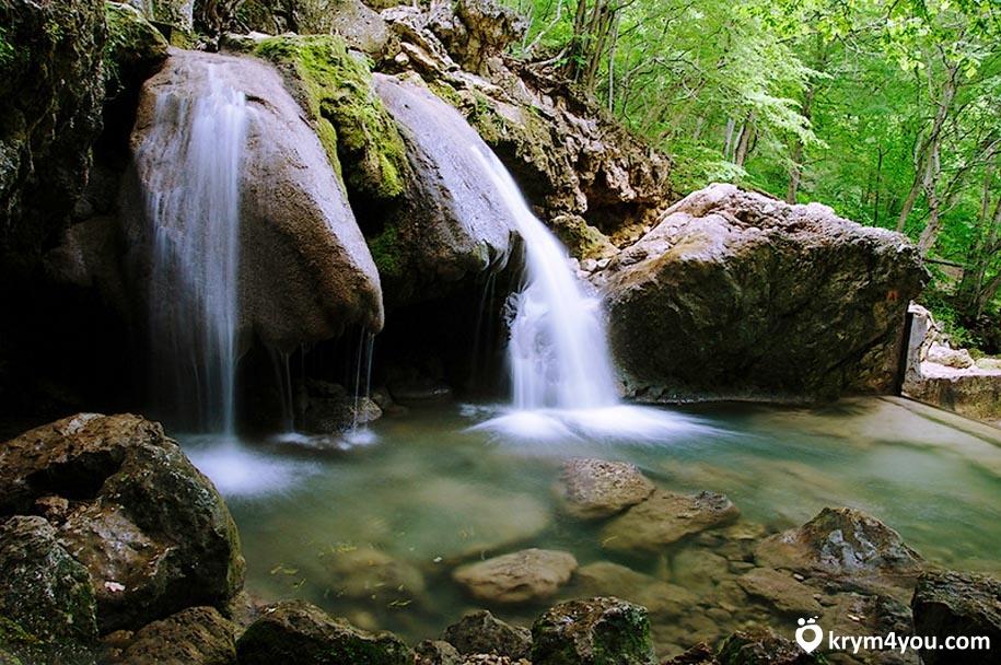 Водопад Су-Учхан поселок Перевальное Крым фото