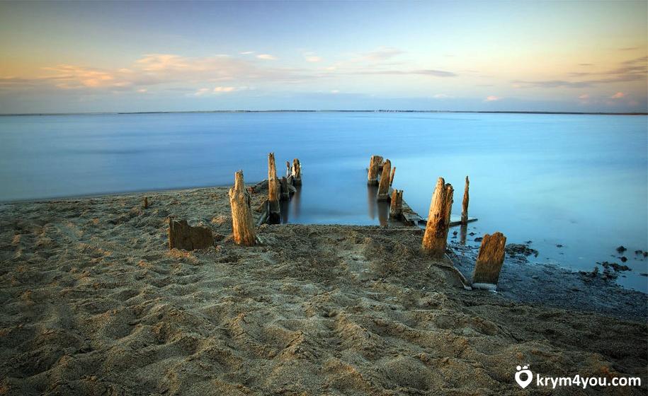 Озере Сасык-Сиваш Крым