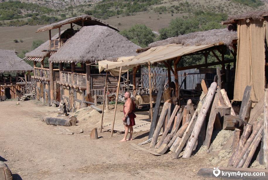 Парк Викингов в Крыму поселок Перевальное